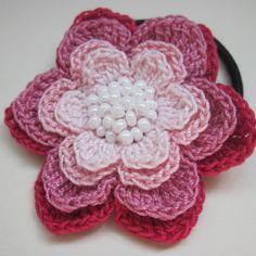 Crochet a Layered Flower Hair Band