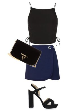 Untitled #1130 by nuria-f on Polyvore featuring polyvore fashion style Topshop Prada clothing