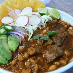 Slow-Cooker Posole Slow Cooker Posole, Crock Pot Slow Cooker, Crock Pot Cooking, Slow Cooker Recipes, Crockpot Recipes, Cooking Recipes, Crockpot Dishes, Pork Recipes, Mexican Food Recipes