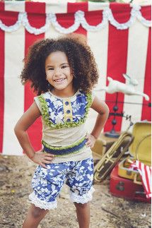 Persnickety Navy Floral Bloomers