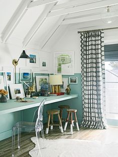 "Coastal Living Cottage Design Ideas and Paint Colors - ""Home Office"""