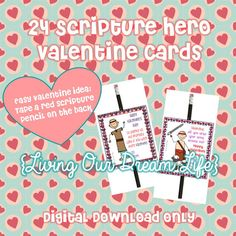 This is so fun for Little Loves on Valentines Day because each card reminds about a Book of Mormon Scripture Hero! And this year, Valentines
