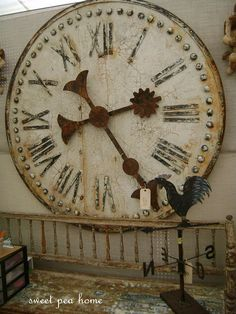 A fabulous clock similar to this one has just arrived at American Home & Garden in Ventura CA  Won't last long in the store~ the last one we brought in lasted 2 days!!