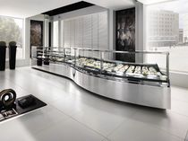 Refrigerated counter display case / for pastry shops