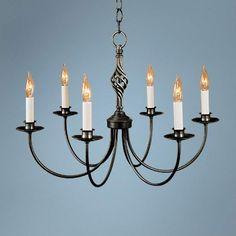 Hubbardton Forge Black Twist Basket Chandelier - #22859   Lamps Plus