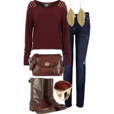 Polyvore - September - Maroon and Gold