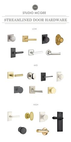 Studio McGee's Favorite Interior Door Hardware Click through for a round-up of our favorite interior door hardware! Black Door Hardware, Black Door Handles, Sliding Door Hardware, Home Hardware, Modern Door Handles, Exterior Door Hardware, Baldwin Door Hardware, Rustic Hardware, Window Hardware