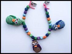 Crochet chain owls #obber. Hæklet barnevognskæde med ugler