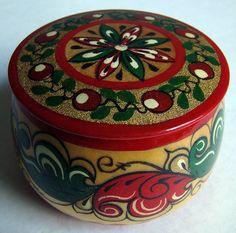 russian wooden decorative casket