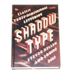 Last week I had the opportunity to speak with Thames & Hudson from London. They publish spectacular graphic and design books. I asked them if there is a book worth buying and at the same time interesting for my readers. Shortly after that E-Mail they answered me and asked me to write something about Shadow … Typography Books, Book Design, Book Art, Opportunity, London, Lettering, Writing, Reading, Drawing Letters