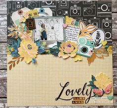 Hey Little Magpie's design team member Jo Boland shares scrapbook layouts and cards using the new Maggie Holmes collection 'Flourish'. Love Scrapbook, Photo Album Scrapbooking, Scrapbook Designs, Wedding Scrapbook, Scrapbook Journal, Scrapbook Sketches, Scrapbook Page Layouts, Scrapbook Paper Crafts, Scrapbook Cards