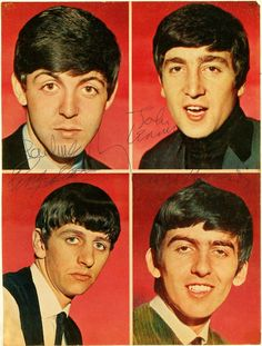 """The Beatles """"autographed colour photos"""" Foto Beatles, The Beatles 1, Beatles Photos, Lady Madonna, Classic Rock And Roll, Is 61, Liverpool, Music Artwork, Still In Love"""
