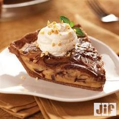 Chocolate-Peanut Butter Cream Pie with Chocolate Crust from Jif® is another recipe for my peanut butter pie collection. Peanut Butter Cream Pie, Peanut Butter Recipes, Chocolate Peanut Butter, Chocolate Desserts, Butter Pie, Delicious Desserts, Dessert Recipes, Yummy Food, Yummy Recipes