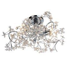 Chrome Ribbon Flush Ceiling Light | Flush ceiling lights, Products ...:Lounge - Gemma Ceiling Light - Chrome from Homebase.co.uk,Lighting