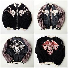 Vintage Backstreet Crawler Skull Punk Velveteen Sukajan Jacket - Japan Lover Me Store