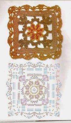 Crochet Granny, Crochet Motif, Knit Crochet, Cute Crochet, Knit Patterns, Folk Art, Free Pattern, Crochet Necklace, Quilts