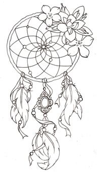 beautiful dream catcher. i might get this as a tattoo. what do u guys think?