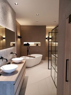 A beautiful Wellness bathroom designed and delivered . - Een prachtige Wellness badkamer ontworpen en gelev… – A beautiful Wellness bathroom designed and delivered … – - Dream Home Design, Home Interior Design, Interior Decorating, House Design, Interior Livingroom, Dream Bathrooms, Beautiful Bathrooms, Bathroom Design Luxury, House Rooms