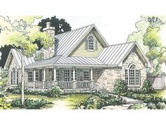 Floor Plan AFLFPW18647 is a beautiful 1063 square foot + Cottage home design with 0 Garage Bays