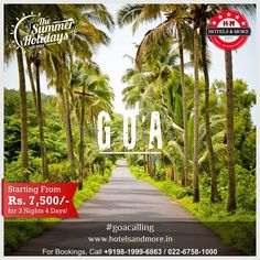 Go #Goa only @ Rs.7,500/- for 3 Nights, 4 Days #GoaCalling #friends #family #fun #party #beach #villa #holiday #vacation #luxury #hotel #premium #destination #exclusiveluxury #relax #enjoy #weekend #travel #roadtrip #cheers #instagram #church #chill #beer