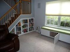 Bookshelves Under Stairs built in bookshelves under the stairs - so wanna do this in my