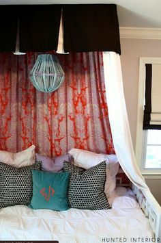 Make hanging lamp from inexpensive planter pot frames garlands