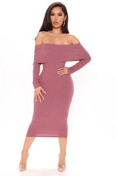 Mauve Dress, Black Midi Dress, Dress Outfits, Fashion Dresses, Fashion Pics, Dress Up, Long Sleeve Bandage Dress, Mini Dresses For Women, Online Dress Shopping