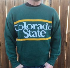 Vintage 1984 Cliff Engle Colorado State Sweater. Great colors with slight  wear b67fc24a2