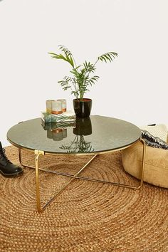 Slide View: 1: Antique Mirror Table