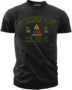 83f2e356a1ae Men s Army T-Shirt - US Army 1st Armored Division Retro