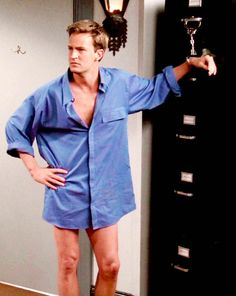 Matthew Perry as Chandler Bing. This is a nice sight!