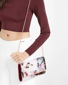 Ethereal Posie resin clutch bag - Nude Pink | Bags | Ted Baker