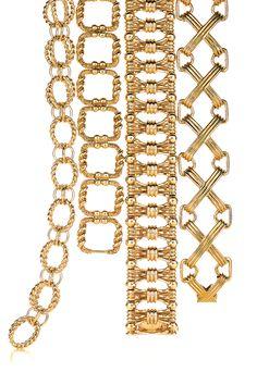 Tiffany & Co. Schlumberger® bracelets in 18k gold. #TiffanyPinterest