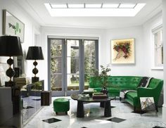Add a statement piece to your neutral interior. Kelly green is a beautiful pop of color!