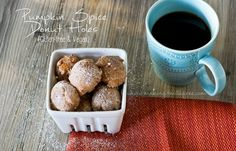 Pumpkin Spice Donut Holes {Gluten Free & Vegan} | Making it Milk-free #glutenfree #vegan #pumpkinspice #donuts