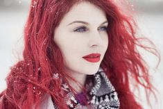 Very red hair and pale skin