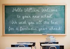 Personalised Back to School Limelight card