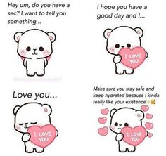 Wholesome Pictures, Love Cartoon Couple, Pick Up Lines Funny, Cute Love Memes, Snapchat Stickers, Cute Messages, Funny Quotes For Teens, Cute Little Things, Wholesome Memes