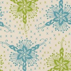 Anna Maria Horner - Loulouthi Flannel - Triflora in Ocean