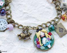 alice bracelet / princess bracelets /disney fimo / zingaracreativa