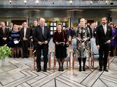 The award ceremony in the Central Hall of Oslo City Hall. Photo: Berit Roald / NTB scanpix | The Nobel Peace Prize was presented in a formal ceremony at Oslo City Hall today. Their Majesties The King and Queen and Their Royal Highnesses The Crown Prince and Crown Princess were in attendance when the International Campaign to Abolish Nuclear Weapons (ICAN) received the award.