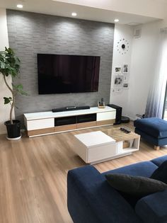 WEB内覧会11〜リビング・ダイニング〜 | i-smart×平屋×大空間 Living Room Decor Tv, Small Living Room Layout, Living Room Tv Unit Designs, Living Room Cabinets, Home Decor Bedroom, Home Theater Rooms, Living Room Inspiration, Interior Design, I Smart