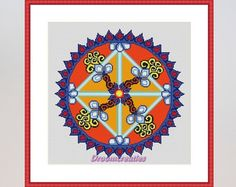 Mandala Pink Lotus download kruissteek van Droomcreaties op Etsy