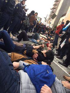 """ピースさんはTwitterを使っています: """"デモコース変更です。 Uターンしてます。 #0131川崎ヘイトデモを許すな https://t.co/yHqcdoEhHs"""""""