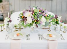 Lavender and Citrus wedding inspiration | photo by Lavender & Twine | flowers by These Buds a Blooming | 100 Layer Cake