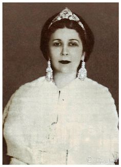 H.M. Queen Nazli Of Egypt [1894/1978] - Cairo In 1930's.