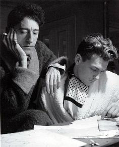 Jean Cocteau and his lover and lifelong friend, the actor Jean Marais, 1939, photo by Cecil Beaton via jessewanderer