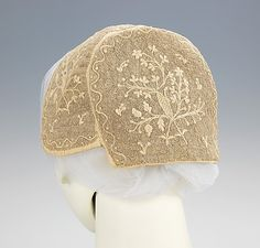 Cap.  Date: 1830–50. Culture: Slovak. Medium: linen. Dimensions: 5 1/2 x 12 1/2 in. (14 x 31.8 cm).