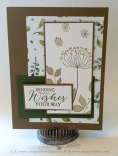 handmade card stamped with Summer Silhouettes ... sketch challenge featuring lots of layers ... Stampin' Up!