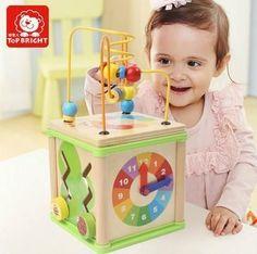 Children's Educational Wooden Round Bead Kit